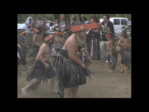 Two POMO Native Boys Individual Dancing Sept. 2008, Santa Rosa, CA Video