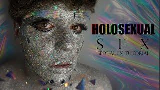 HOLOSEXUAL SFX - Glitter Inspired Make Up   Joey SFX Simmonds
