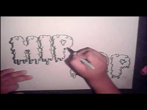step by step how to draw graffiti letters (HQ) Video