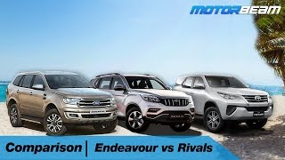 Endeavour vs Alturas G4 vs Fortuner | MotorBeam हिंदी