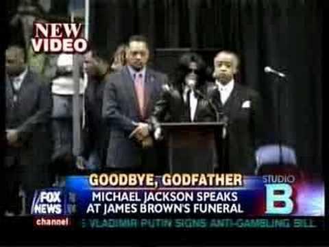 Michael Jackson in James Brown's Funeral