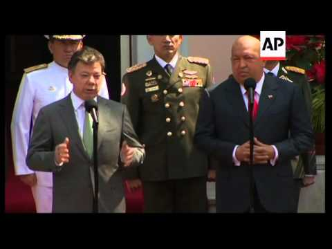 Colombian president meets Chavez ahead of Latam and Caribbean summit