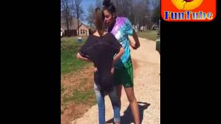 crazy girls street fight collection - 45 \ Viral fatty vs slim girls fight in public area