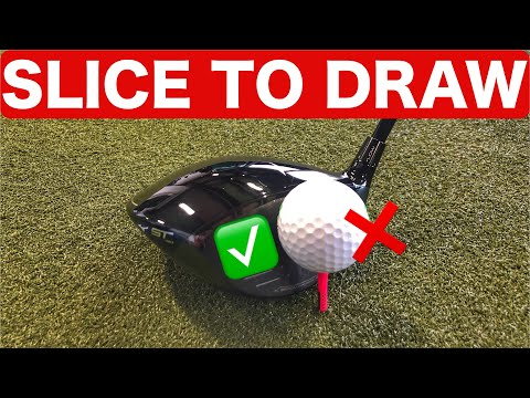 TURN YOUR DRIVER SLICE INTO A DRAW! SIMPLE GOLF DRILLS