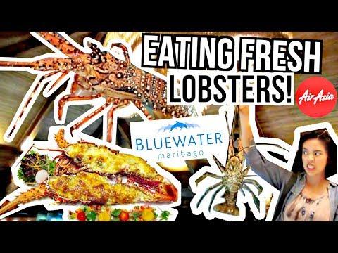 EATING FRESH LOBSTERS!!! BLUEWATER MARIBAGO RESORT ♡   makeupbykarlamisa Vlogs