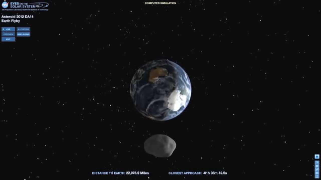Simulation Nasa Nasa Simulation of Asteroid