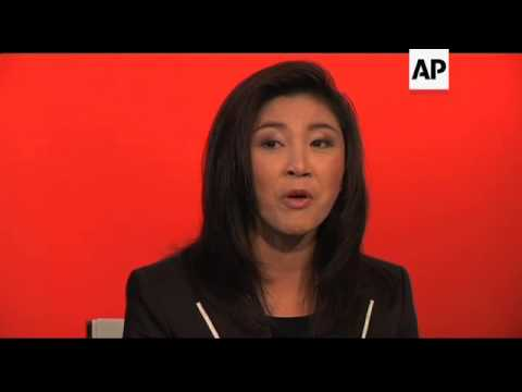 Prime Minister-to be Yingluck Shinawatra speaks to foreign Press