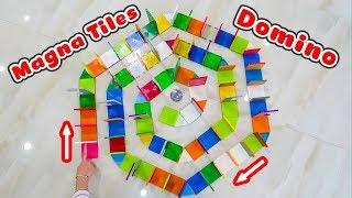 Hiệu ứng Domino với gạch nam châm Magna Tiles từ Nhật