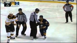 Milan Lucic and Chris Stewart fight 10/30/14