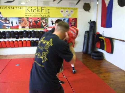 Pad Drill in Jeet Kune Do -Streetwise class Kickfit Martial Arts Academy,Nottingham,UK Image 1