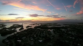 Cocoa Beach Sunset Aerial Drone Video