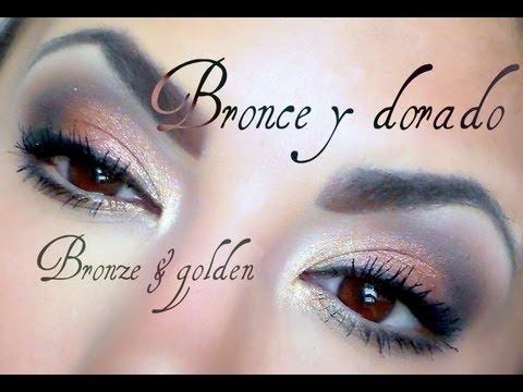 Bronce y dorado para diario / Bronze & golden daily eyemakeup