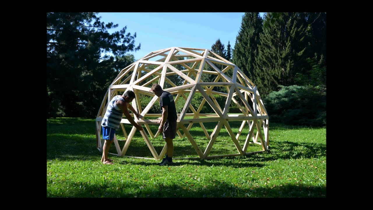 Test Geodesic Dome 3V - YouTube