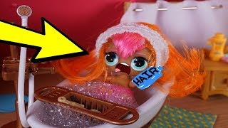 LOL SURPRISES DOLLS Morning Routine CUTIE'S Hair Grows Super Long!