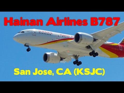 Hainan Airlines B787 inaugural landing at San Jose
