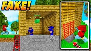 FAKE GENERATOR LADDER TRAP! - Minecraft BEDWARS TROLLING (NO WAY OUT!)