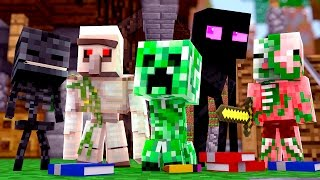 Minecraft - OS NOVOS MONSTROS DA ESCOLA !! - Escola Monstro #01 | Monster School