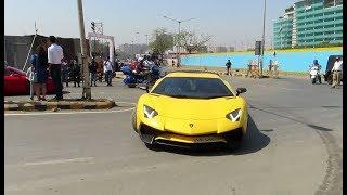 PARX SUPERCAR SHOW RALLY 2019 in MUMBAI : Lamborghini + Ferrari + Audi + Ford Mustang GT + Many more