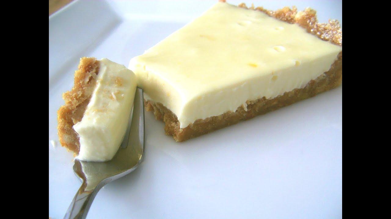 Easy Lemon Cheesecake - No Bake - YouTube