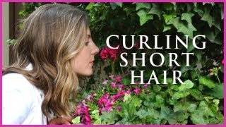 How to: Curling short to medium length hair
