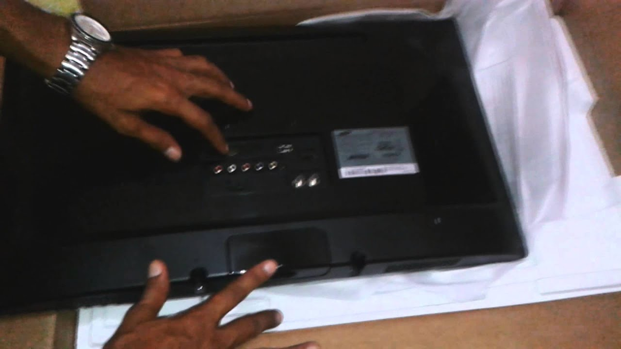 Tv Monitor Fullhd Samsung T24c310 Unboxing Youtube