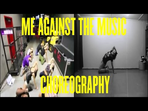 Britney Spears - Me Against The Music Choreography (official) video