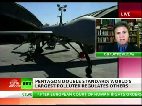 David Swanson:  'The clean-up would take half of the Pentagon budget'