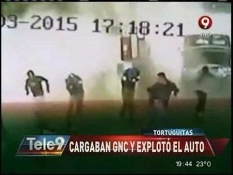 Tortuguitas: Cargaban GNC y explotó el auto