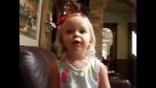 Lynnli at 20 months old sings Farajaka