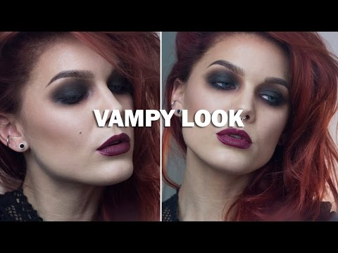 Vampy Look (with subs) - Linda Hallberg Makeup Tutorials