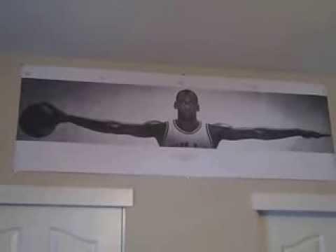 Michael jordan wings poster frame