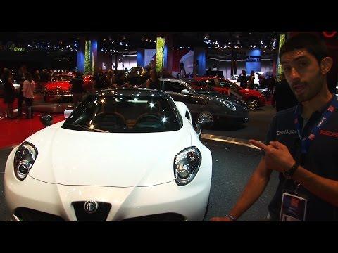 Alfa Romeo 4C Spider al Salone di Parigi 2014