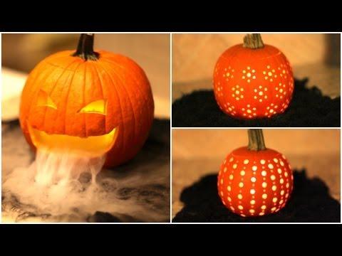 DIY Pumpkin Carvings - halloweeni töklámpás készítése