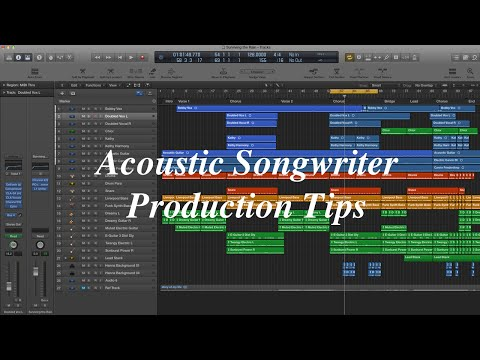 Mixing Singer/Songwriter Acoustic to Full Production