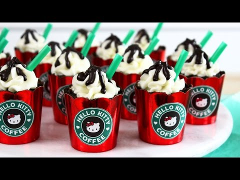 How to Make Hello Kitty Peppermint Mocha Cupcakes!
