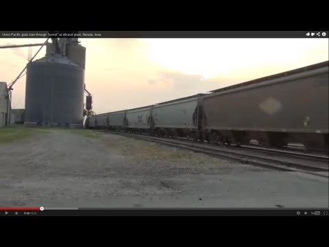 Union Pacific grain train through
