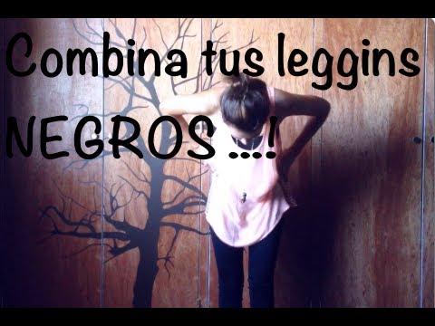 Combina tus Leggins Negros♥ 3 Outfits