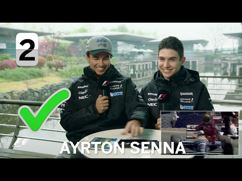 Force India's Sergio Perez and Esteban Ocon | F1 Grill The Grid 2017