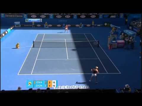 Vera Zvonareva vs. Bojana Jovanovski 2011 AO highlights