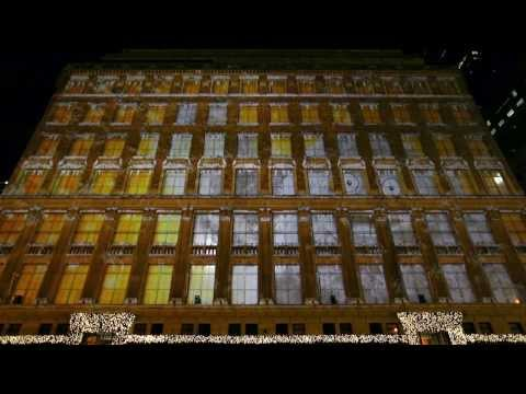Saks Fifth Avenue 3D Holiday Light Show 2013