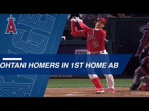 Shohei Ohtani belts a three-run HR in his first AB in Anaheim