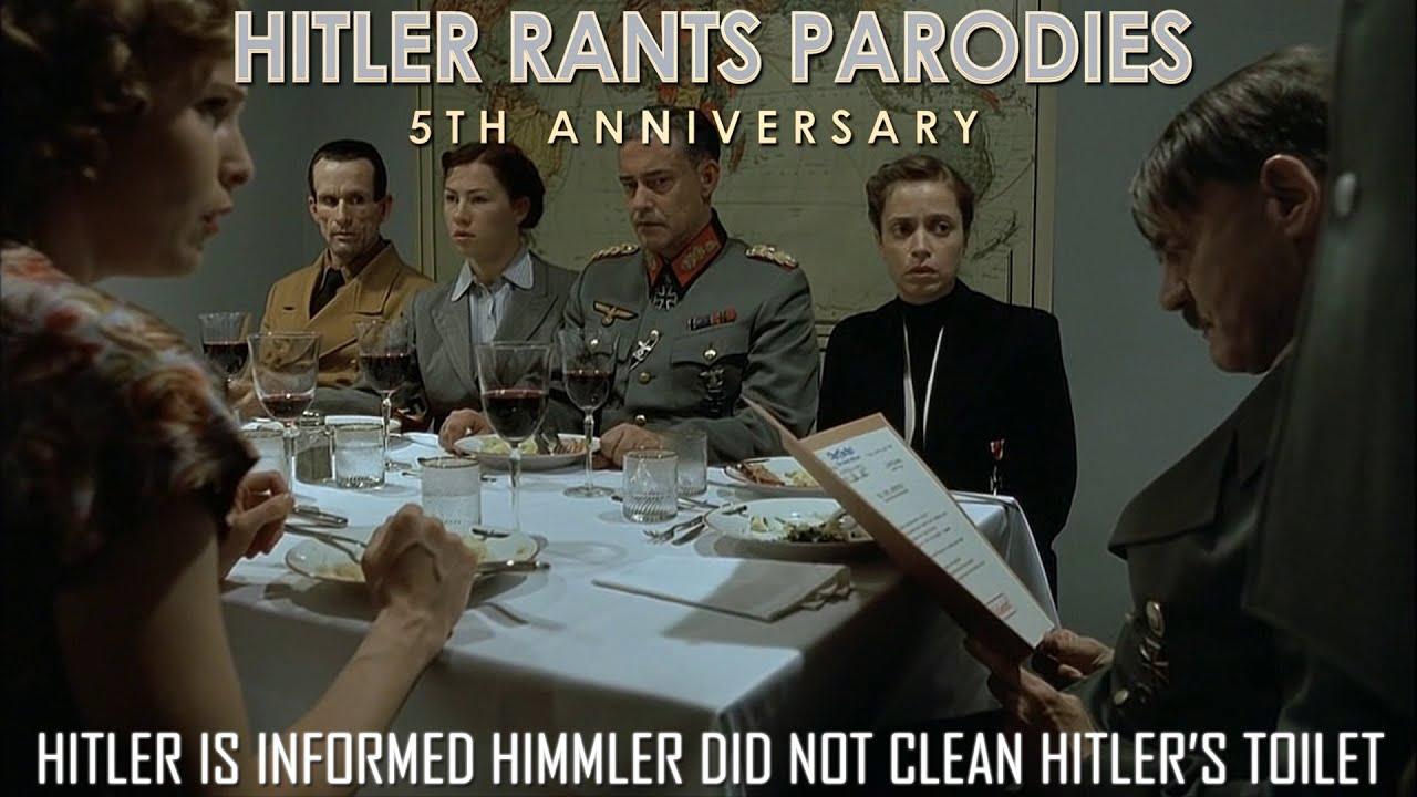 Hitler is informed Himmler did not clean Hitler's toilet