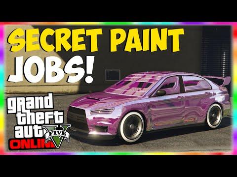 GTA 5 Paint Jobs: SECRET