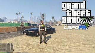 GTA 5 - LSPDFR - EPiSODE 43 - LET'S BE COPS - FBI/ FIB PATROL (GTA 5 PC POLICE MODS) Vespucci Beach