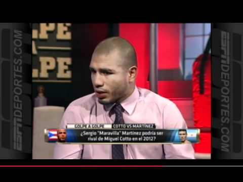 Sergio Martinez calls out Miguel Cotto on ESPN Golpe a Golpe