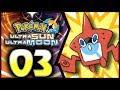 Pokemon Ultra Sun and Moon: Part 3 - Rotom Dex! [100% Walkthrough]