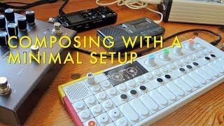 Composing With A Minimal Setup | OP1, FX Deformer, Piano, Dictaphone, Timeline