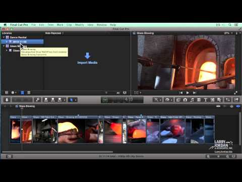 Creating Libraries in Final Cut Pro X (10.1)