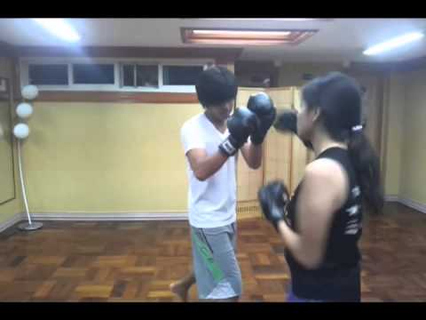 Wulfric SAVATE Philippines Savateuse La boxe Francaise Kickboxing Training June 22 raw Footage Image 1