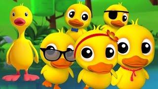 fünf kleinen Enten | Kinderreime Sammlung | beste Kinderlieder Zusammenstellung